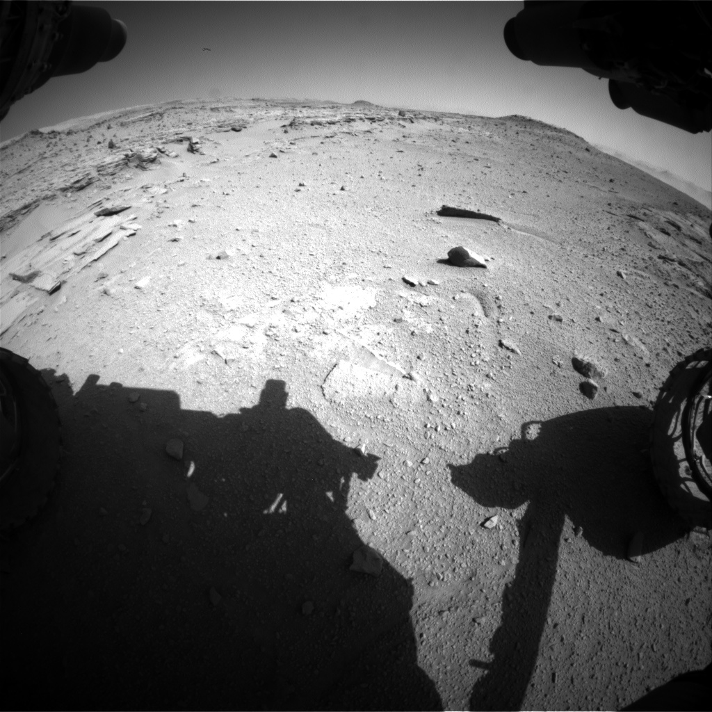 Nasa's Mars rover Curiosity acquired this image using its Front Hazard Avoidance Camera (Front Hazcam) on Sol 539, at drive 708, site number 26
