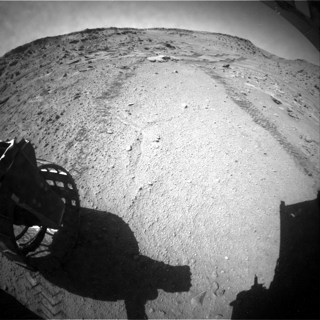 NASA's Mars rover Curiosity acquired this image using its Rear Hazard Avoidance Cameras (Rear Hazcams) on Sol 539