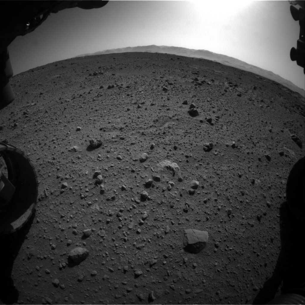 Nasa's Mars rover Curiosity acquired this image using its Front Hazard Avoidance Camera (Front Hazcam) on Sol 540, at drive 978, site number 26