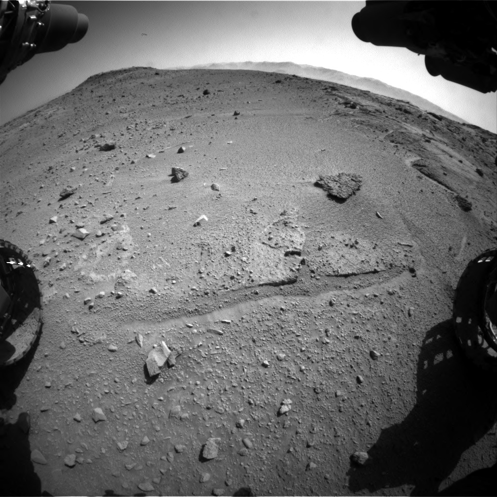 Nasa's Mars rover Curiosity acquired this image using its Front Hazard Avoidance Camera (Front Hazcam) on Sol 540, at drive 786, site number 26