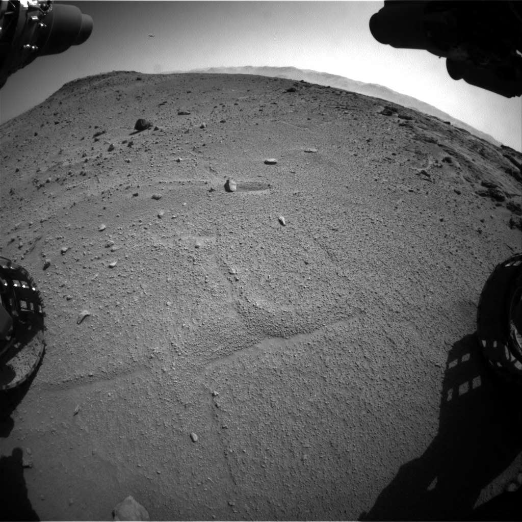 Nasa's Mars rover Curiosity acquired this image using its Front Hazard Avoidance Camera (Front Hazcam) on Sol 540, at drive 816, site number 26