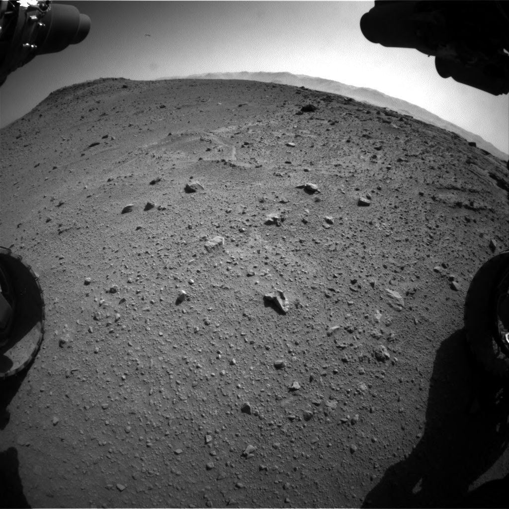 Nasa's Mars rover Curiosity acquired this image using its Front Hazard Avoidance Camera (Front Hazcam) on Sol 540, at drive 840, site number 26