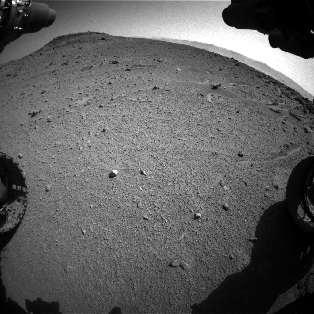 Nasa's Mars rover Curiosity acquired this image using its Front Hazard Avoidance Camera (Front Hazcam) on Sol 540, at drive 876, site number 26