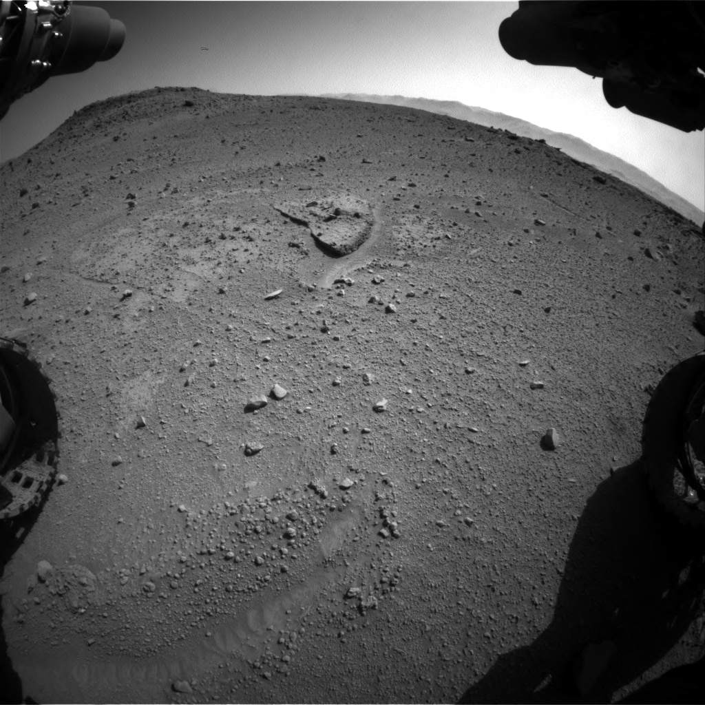 Nasa's Mars rover Curiosity acquired this image using its Front Hazard Avoidance Camera (Front Hazcam) on Sol 540, at drive 906, site number 26