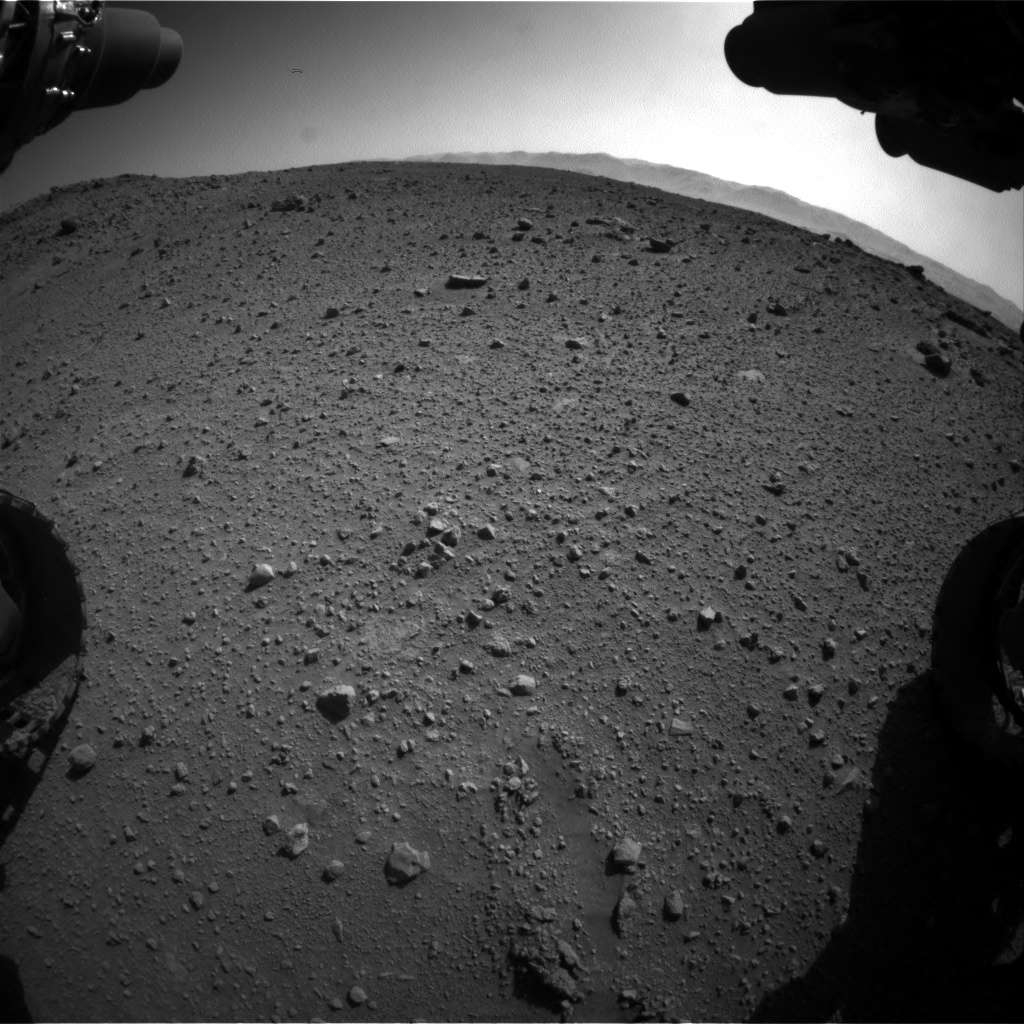 Nasa's Mars rover Curiosity acquired this image using its Front Hazard Avoidance Camera (Front Hazcam) on Sol 540, at drive 954, site number 26
