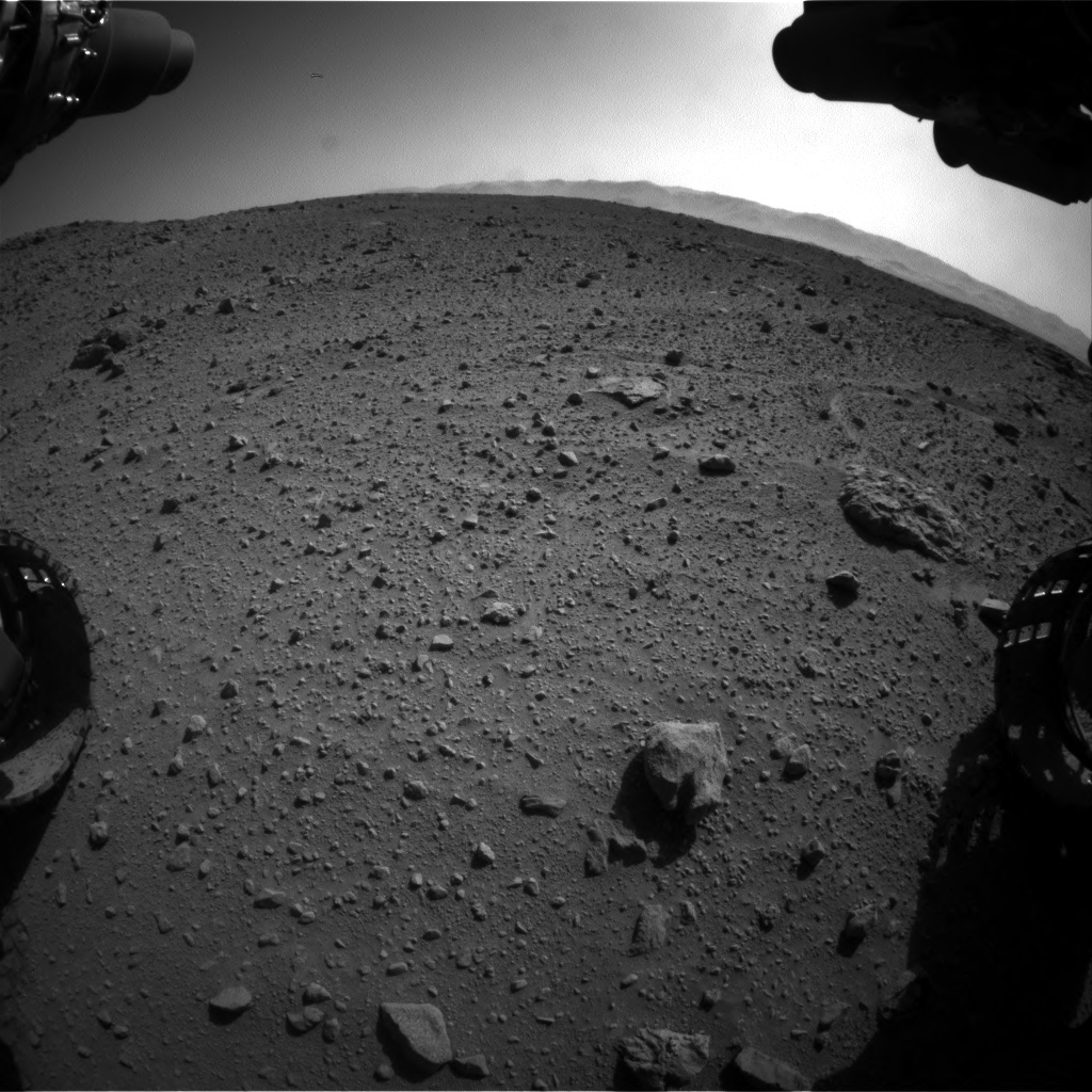 Nasa's Mars rover Curiosity acquired this image using its Front Hazard Avoidance Camera (Front Hazcam) on Sol 540, at drive 966, site number 26