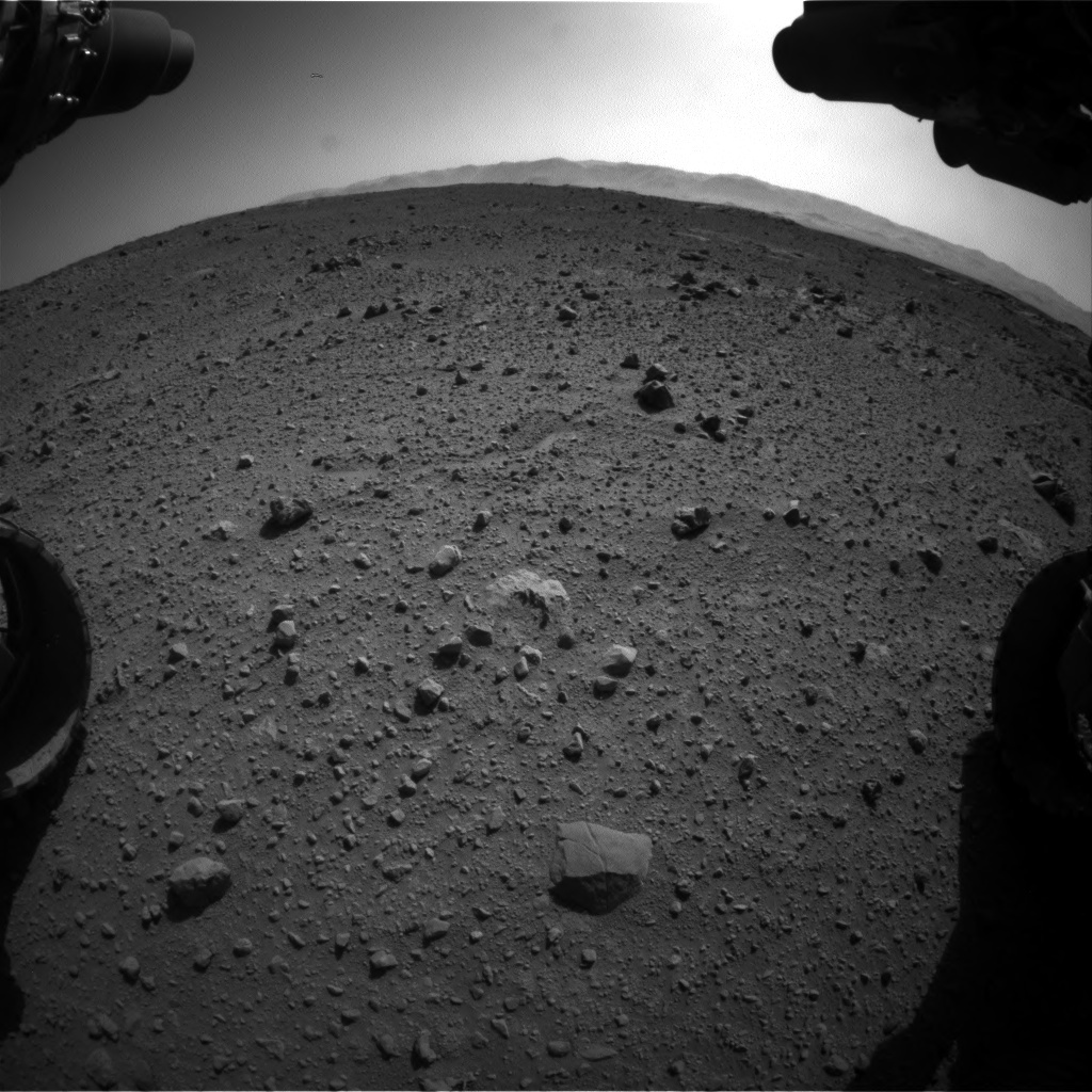 NASA's Mars rover Curiosity acquired this image using its Front Hazard Avoidance Cameras (Front Hazcams) on Sol 540