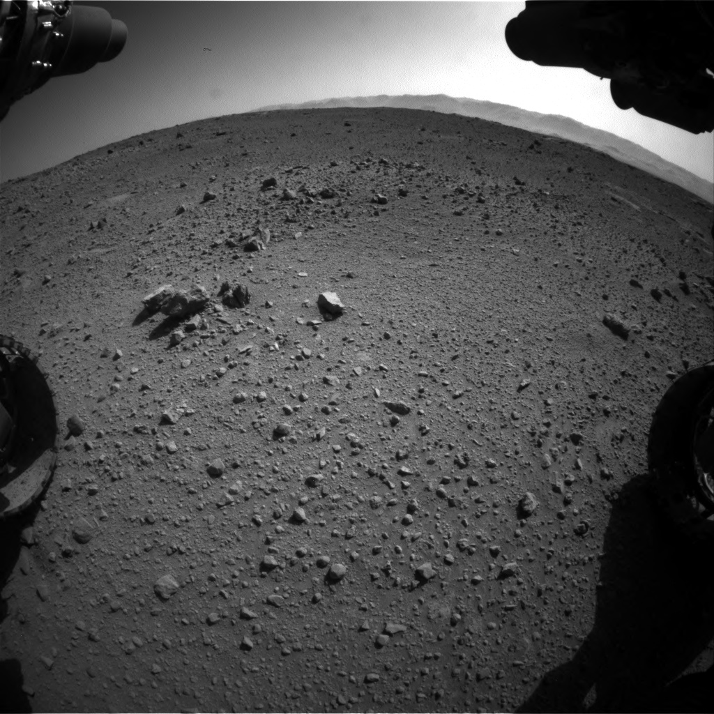 Nasa's Mars rover Curiosity acquired this image using its Front Hazard Avoidance Camera (Front Hazcam) on Sol 540, at drive 996, site number 26