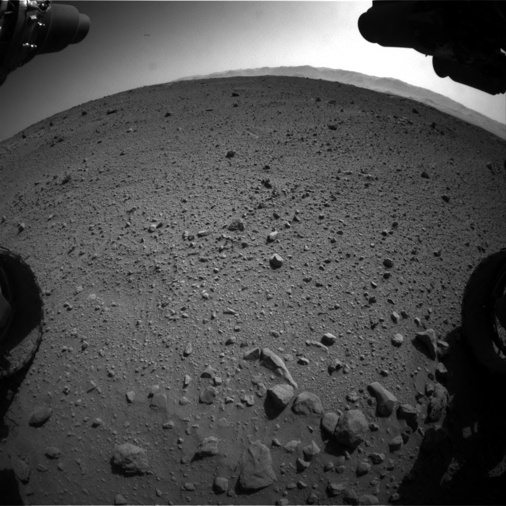 Nasa's Mars rover Curiosity acquired this image using its Front Hazard Avoidance Camera (Front Hazcam) on Sol 540, at drive 1008, site number 26