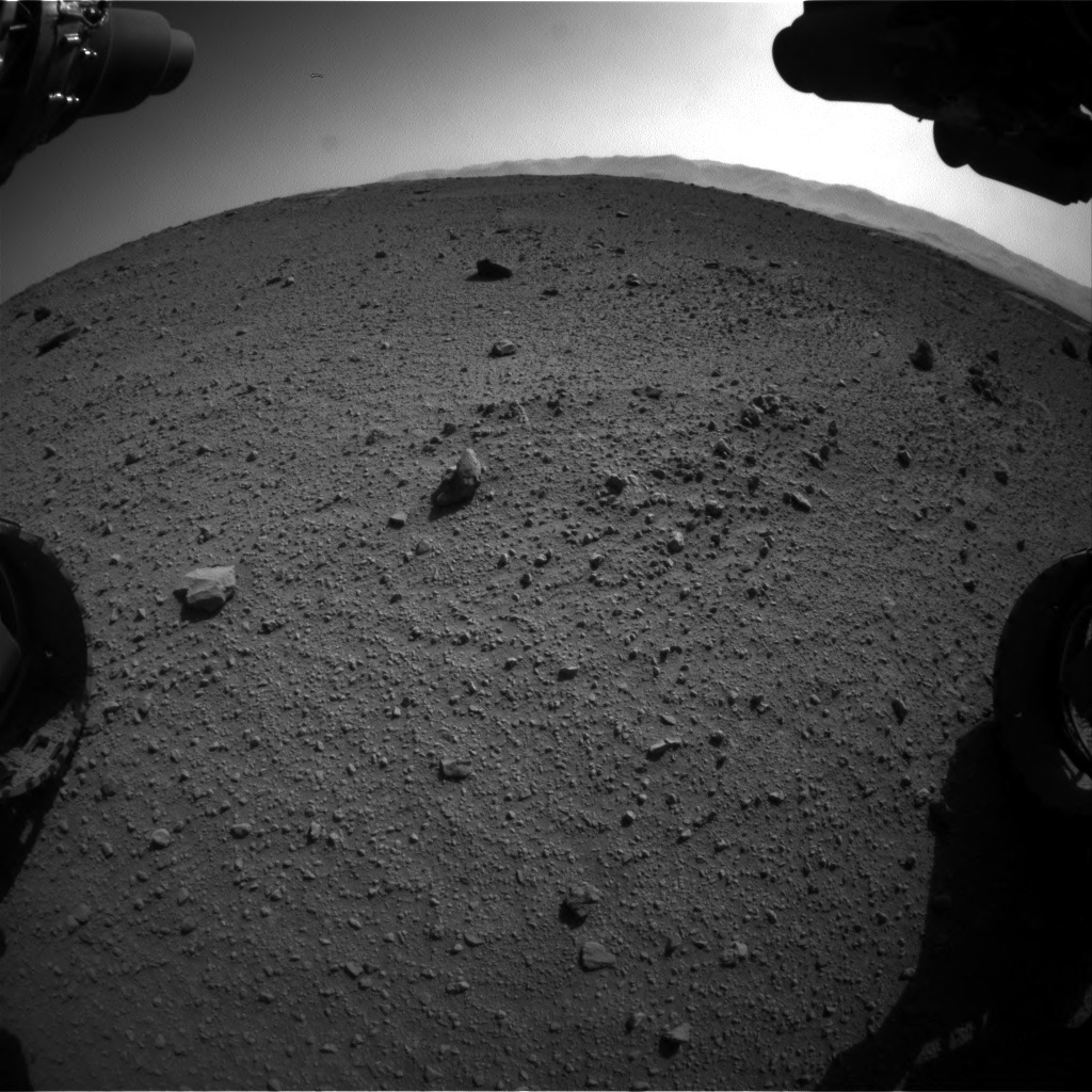 Nasa's Mars rover Curiosity acquired this image using its Front Hazard Avoidance Camera (Front Hazcam) on Sol 540, at drive 1026, site number 26