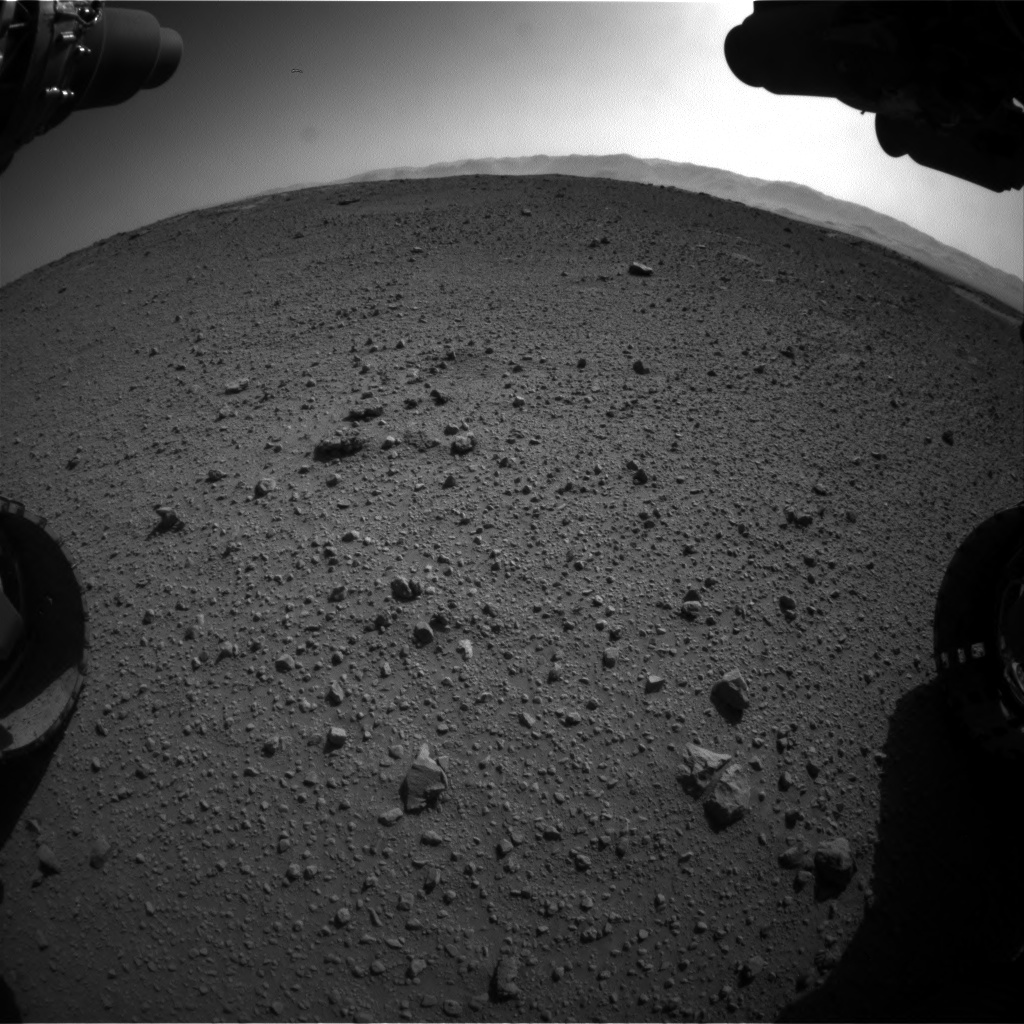 Nasa's Mars rover Curiosity acquired this image using its Front Hazard Avoidance Camera (Front Hazcam) on Sol 540, at drive 1038, site number 26