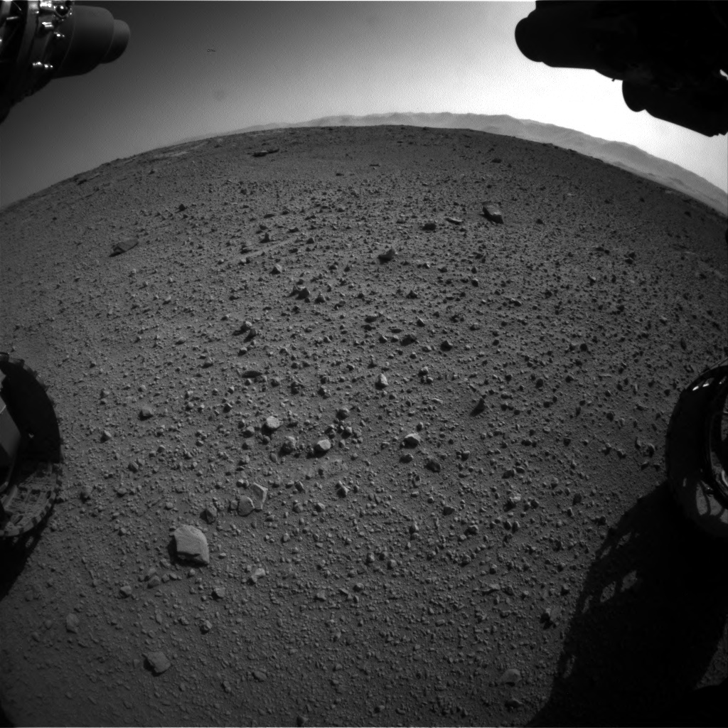 Nasa's Mars rover Curiosity acquired this image using its Front Hazard Avoidance Camera (Front Hazcam) on Sol 540, at drive 1050, site number 26