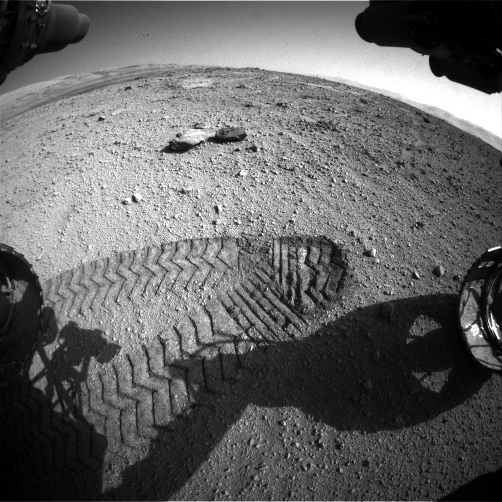 Nasa's Mars rover Curiosity acquired this image using its Front Hazard Avoidance Camera (Front Hazcam) on Sol 540, at drive 1102, site number 26