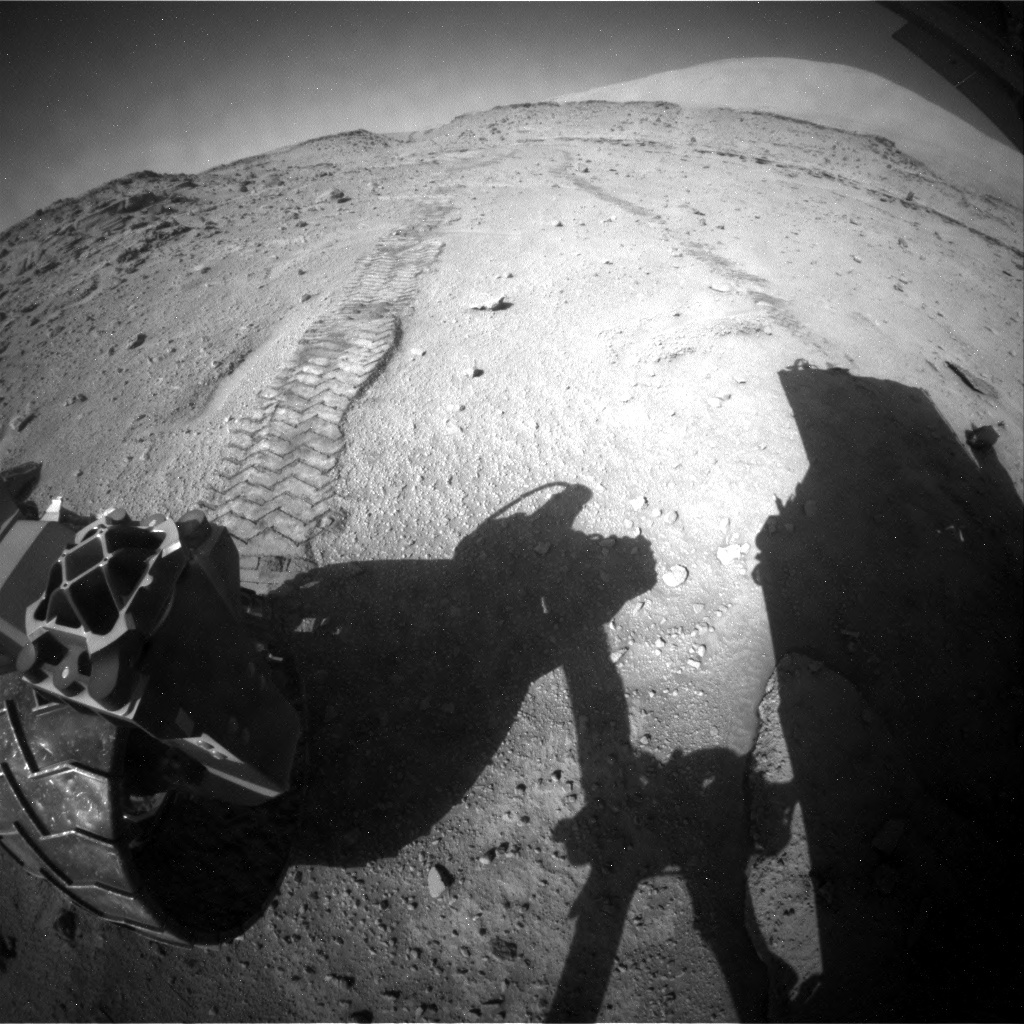 NASA's Mars rover Curiosity acquired this image using its Rear Hazard Avoidance Cameras (Rear Hazcams) on Sol 540