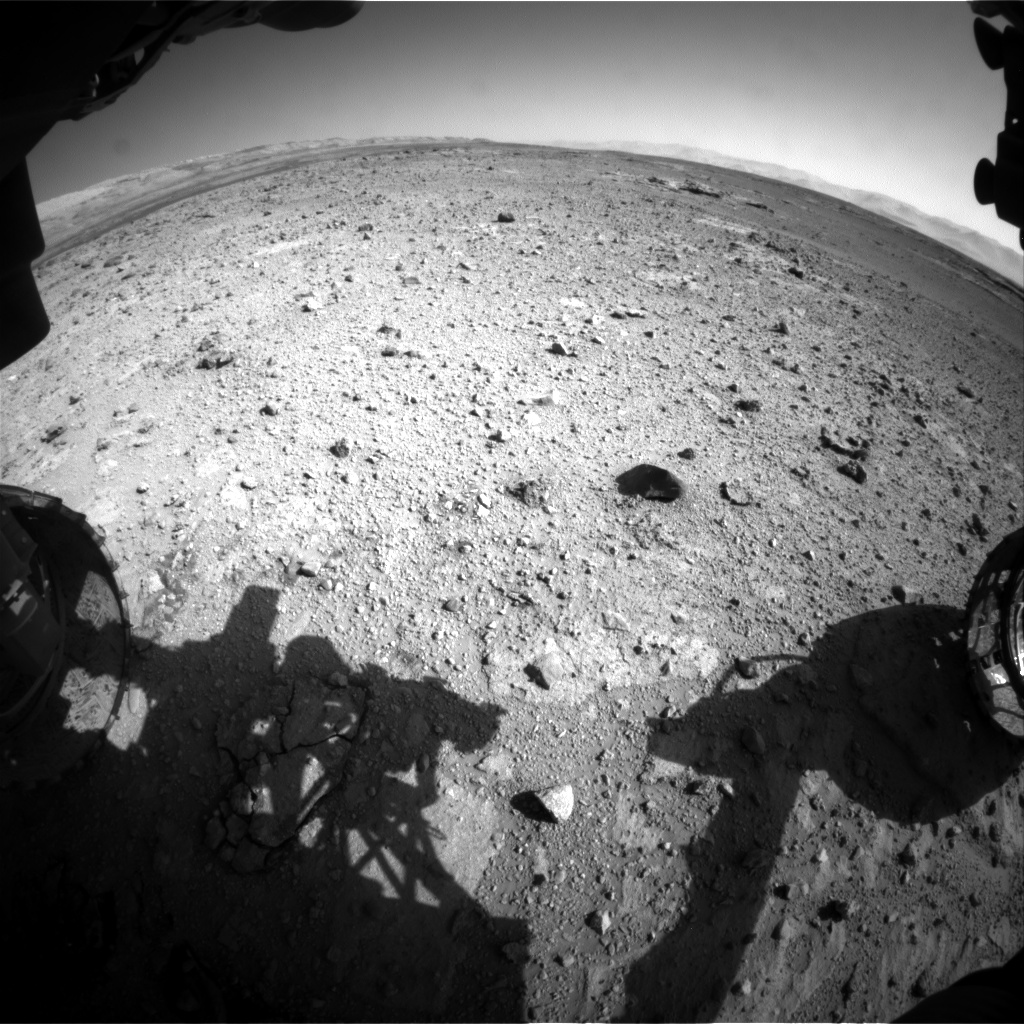 Nasa's Mars rover Curiosity acquired this image using its Front Hazard Avoidance Camera (Front Hazcam) on Sol 542, at drive 1274, site number 26