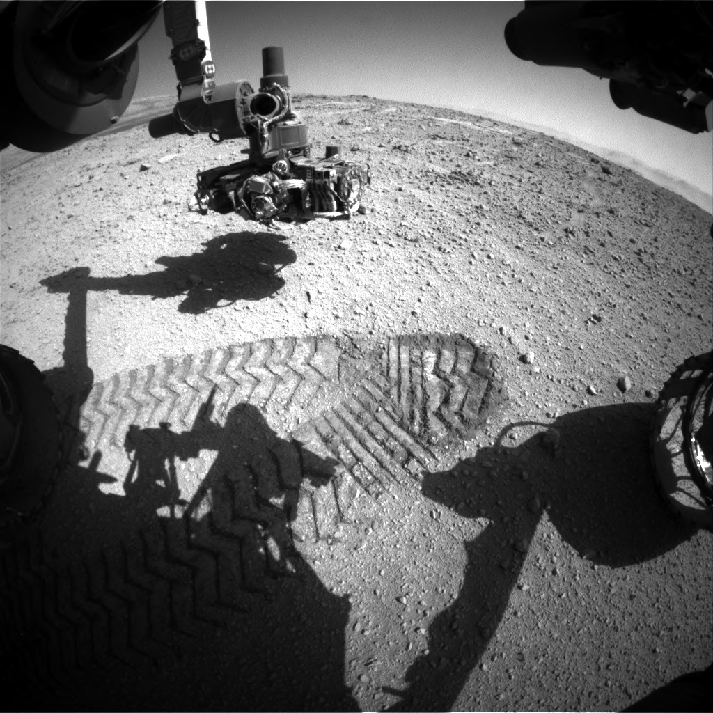 Nasa's Mars rover Curiosity acquired this image using its Front Hazard Avoidance Camera (Front Hazcam) on Sol 542, at drive 1102, site number 26