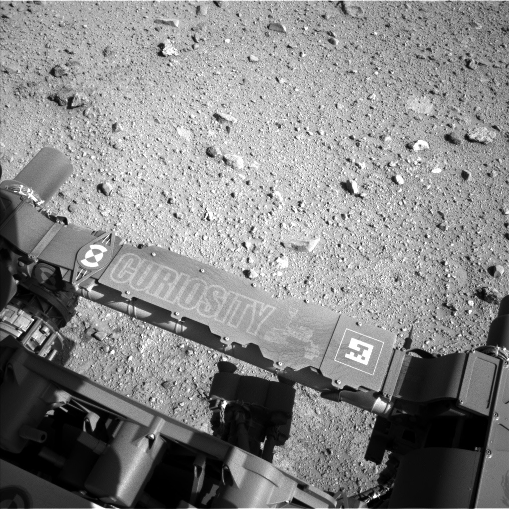 Nasa's Mars rover Curiosity acquired this image using its Left Navigation Camera on Sol 542, at drive 1274, site number 26