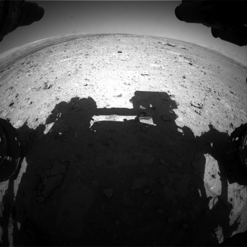 Nasa's Mars rover Curiosity acquired this image using its Front Hazard Avoidance Camera (Front Hazcam) on Sol 543, at drive 1274, site number 26