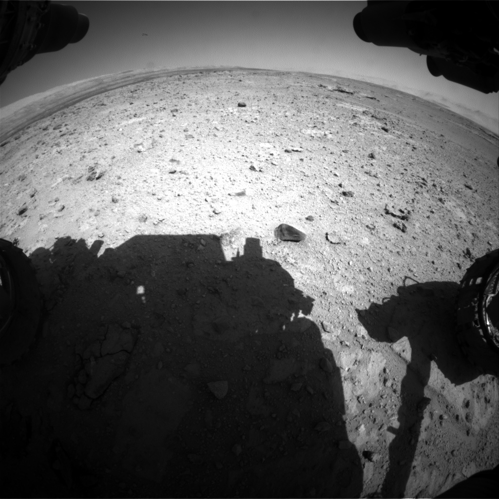 Nasa's Mars rover Curiosity acquired this image using its Front Hazard Avoidance Camera (Front Hazcam) on Sol 544, at drive 1274, site number 26