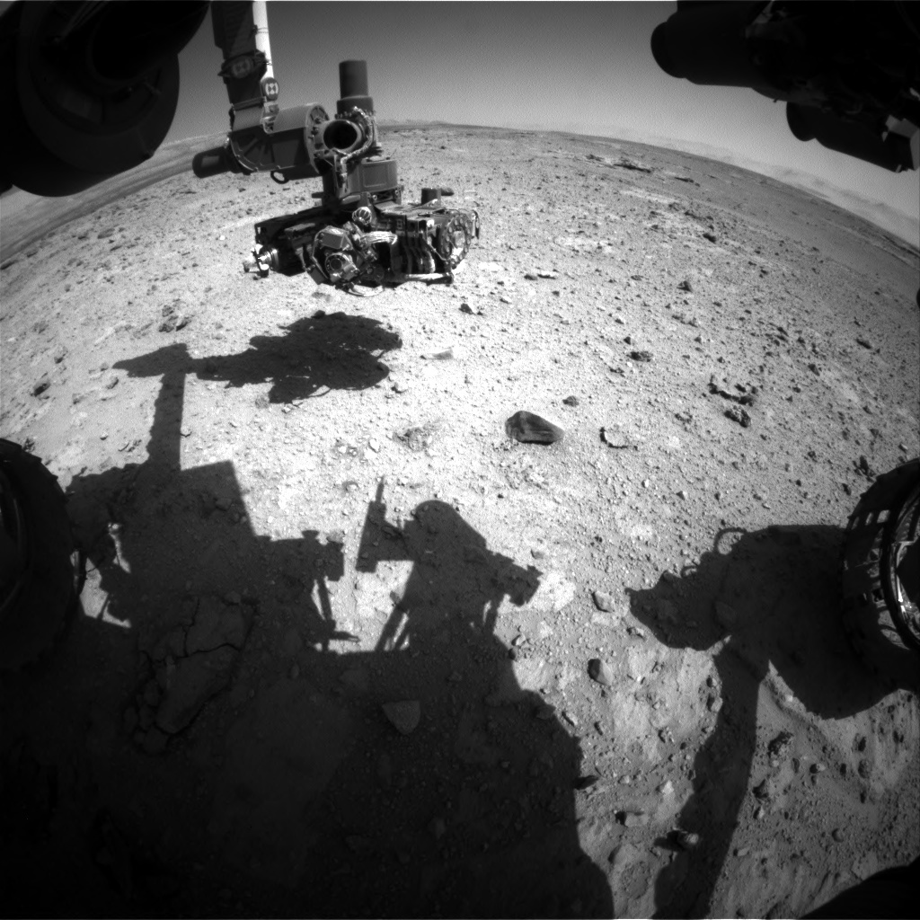 NASA's Mars rover Curiosity acquired this image using its Front Hazard Avoidance Cameras (Front Hazcams) on Sol 544