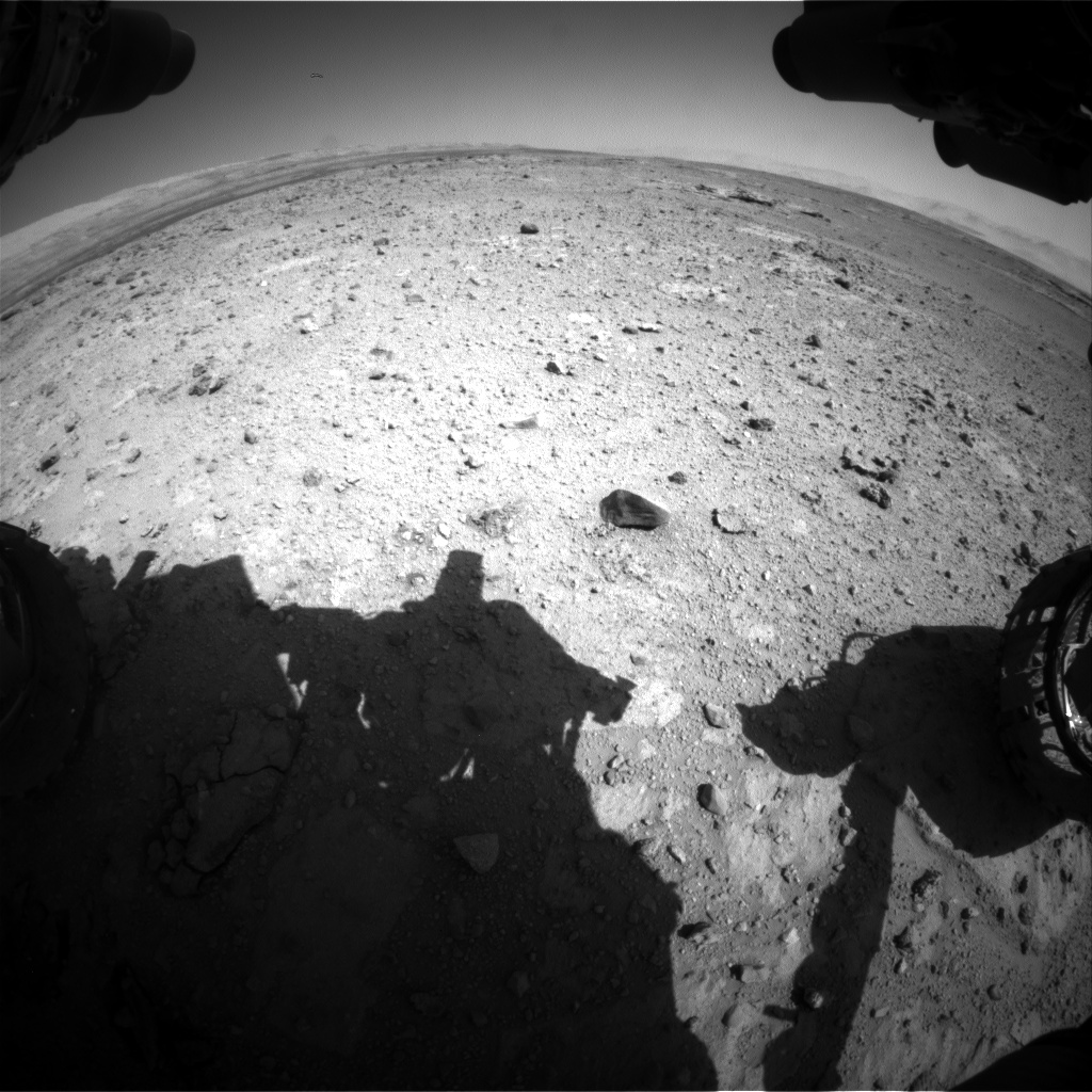 Nasa's Mars rover Curiosity acquired this image using its Front Hazard Avoidance Camera (Front Hazcam) on Sol 545, at drive 1274, site number 26