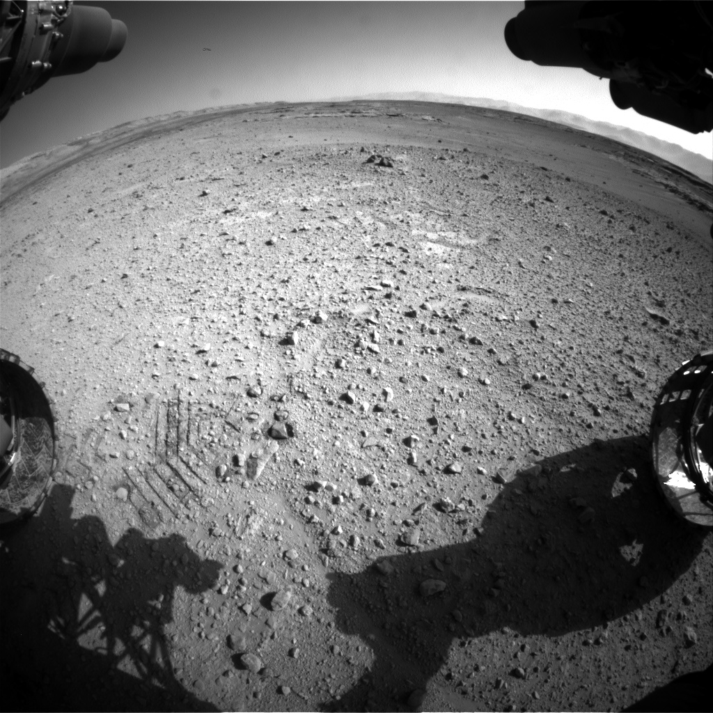 Nasa's Mars rover Curiosity acquired this image using its Front Hazard Avoidance Camera (Front Hazcam) on Sol 545, at drive 0, site number 27