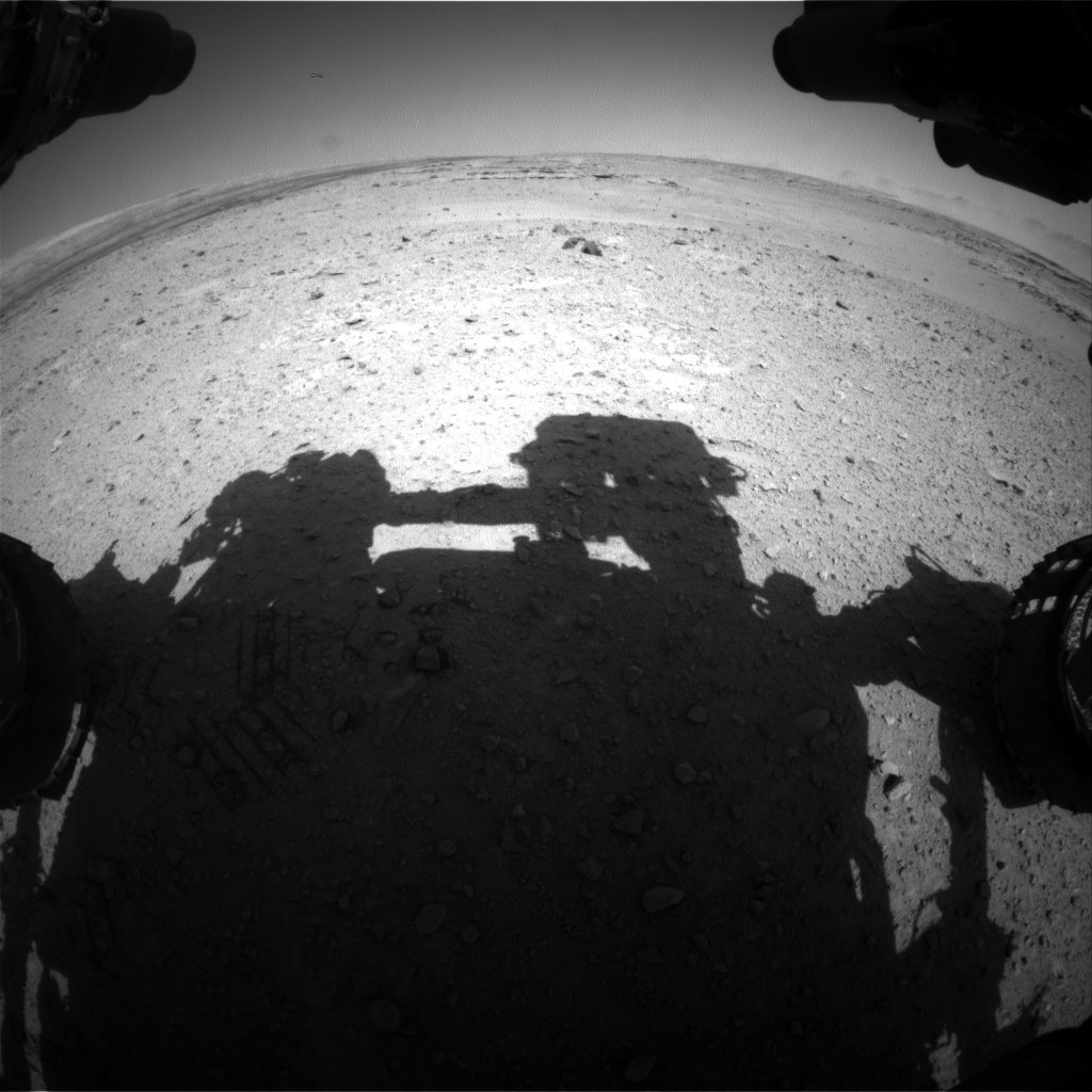 Nasa's Mars rover Curiosity acquired this image using its Front Hazard Avoidance Camera (Front Hazcam) on Sol 546, at drive 0, site number 27