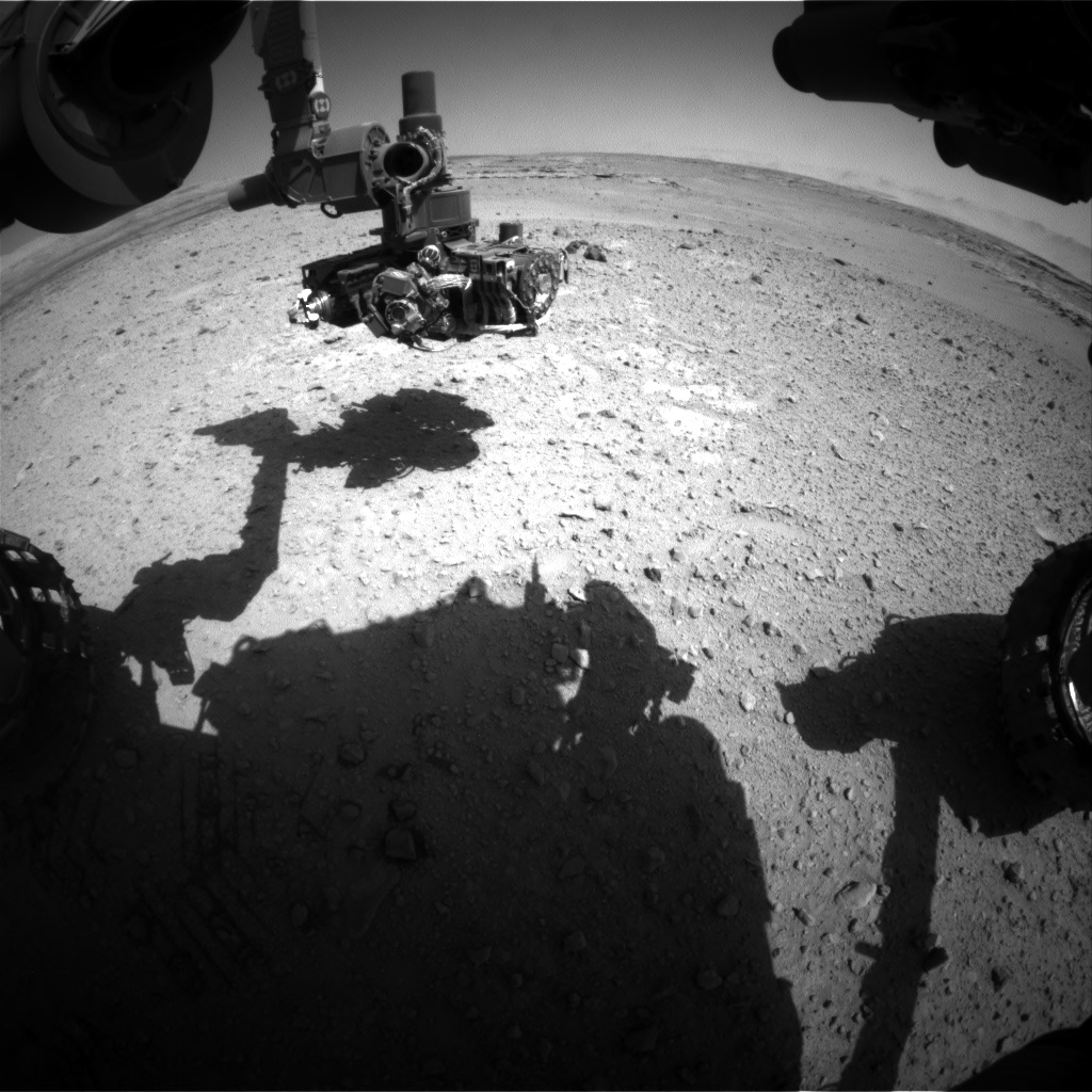 Nasa's Mars rover Curiosity acquired this image using its Front Hazard Avoidance Camera (Front Hazcam) on Sol 546, at drive 6, site number 27