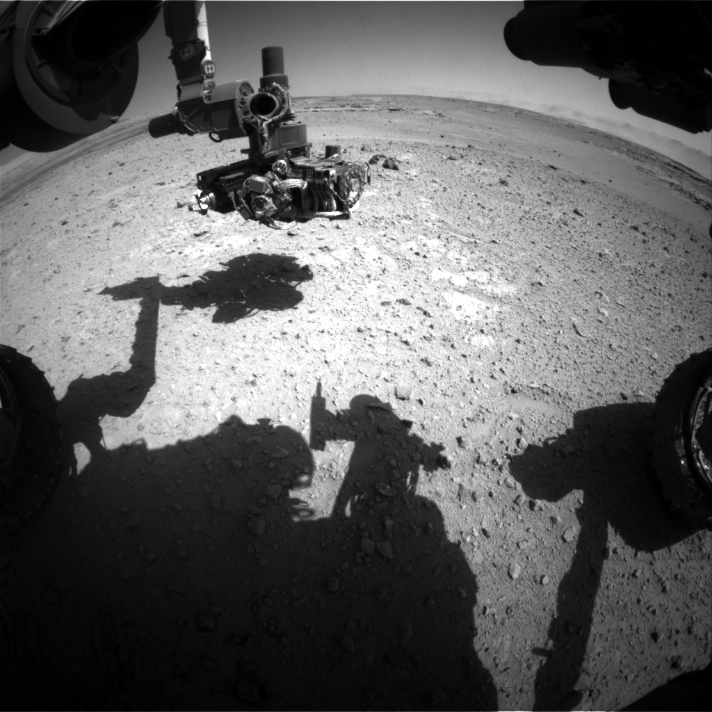 Nasa's Mars rover Curiosity acquired this image using its Front Hazard Avoidance Camera (Front Hazcam) on Sol 546, at drive 12, site number 27