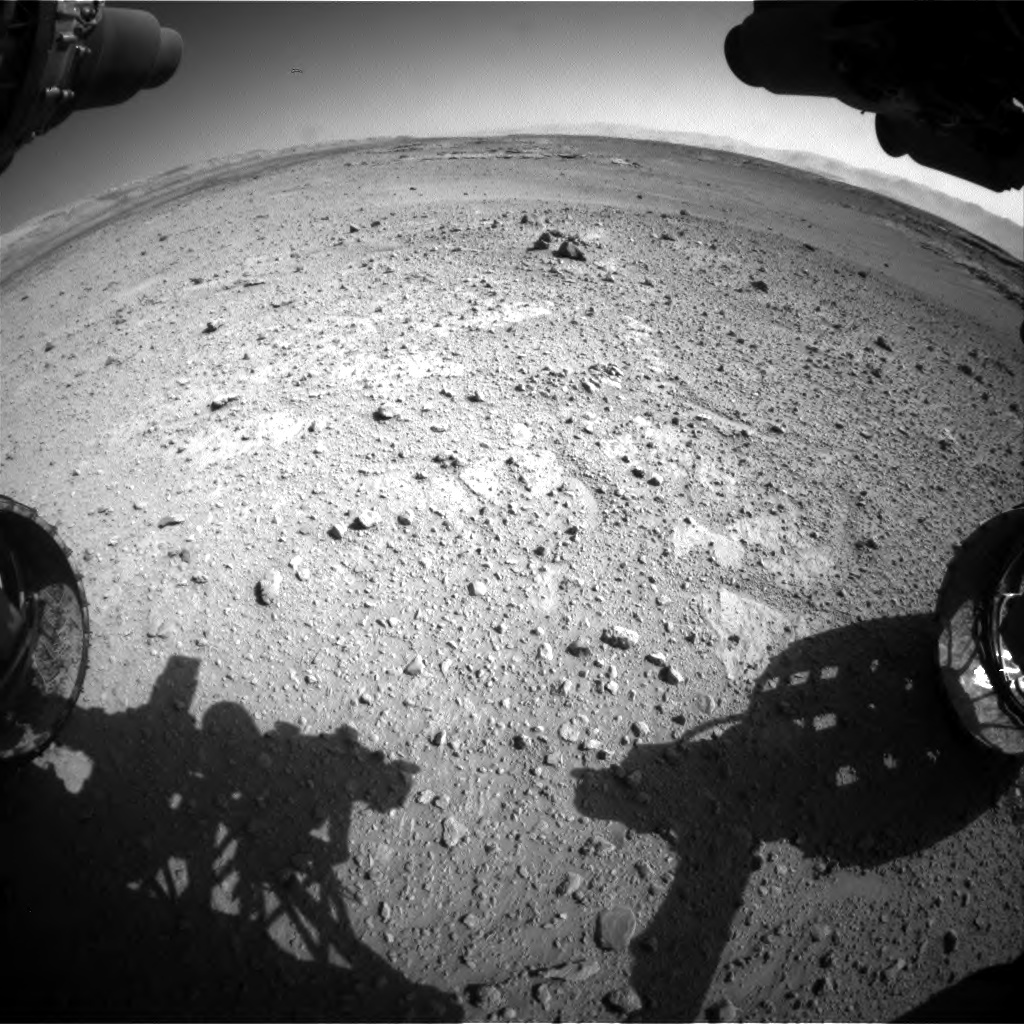 Nasa's Mars rover Curiosity acquired this image using its Front Hazard Avoidance Camera (Front Hazcam) on Sol 546, at drive 24, site number 27