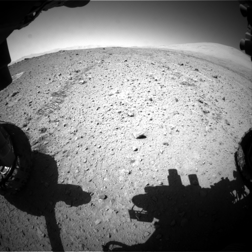 Nasa's Mars rover Curiosity acquired this image using its Front Hazard Avoidance Camera (Front Hazcam) on Sol 547, at drive 84, site number 27