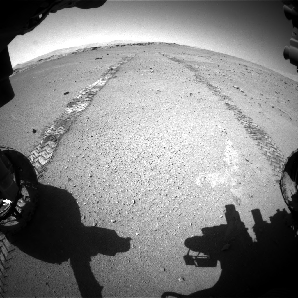 Nasa's Mars rover Curiosity acquired this image using its Front Hazard Avoidance Camera (Front Hazcam) on Sol 547, at drive 366, site number 27