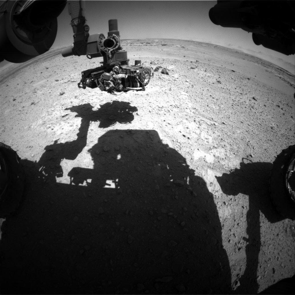 Nasa's Mars rover Curiosity acquired this image using its Front Hazard Avoidance Camera (Front Hazcam) on Sol 547, at drive 24, site number 27