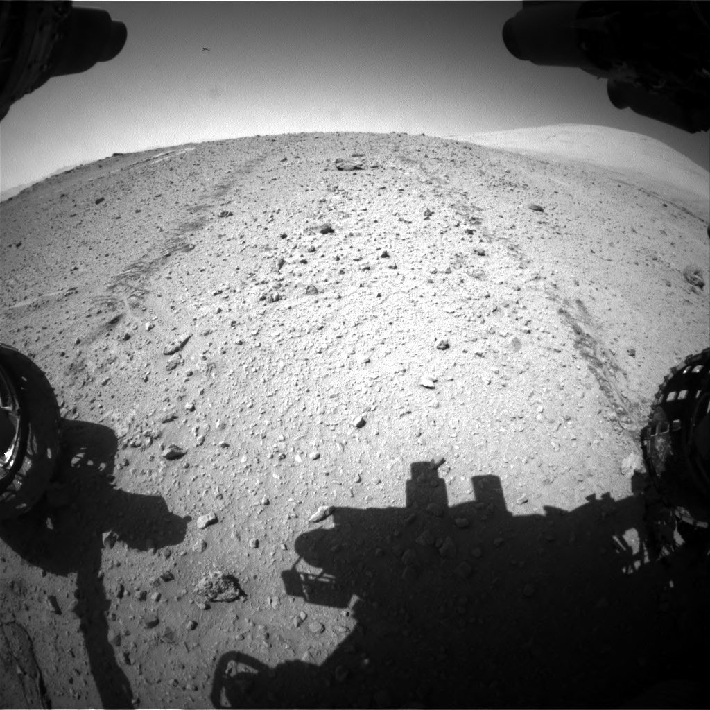 Nasa's Mars rover Curiosity acquired this image using its Front Hazard Avoidance Camera (Front Hazcam) on Sol 547, at drive 138, site number 27