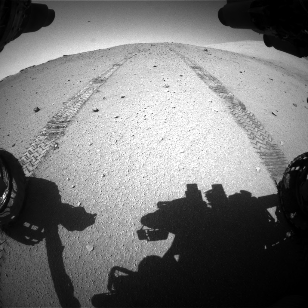 Nasa's Mars rover Curiosity acquired this image using its Front Hazard Avoidance Camera (Front Hazcam) on Sol 547, at drive 186, site number 27