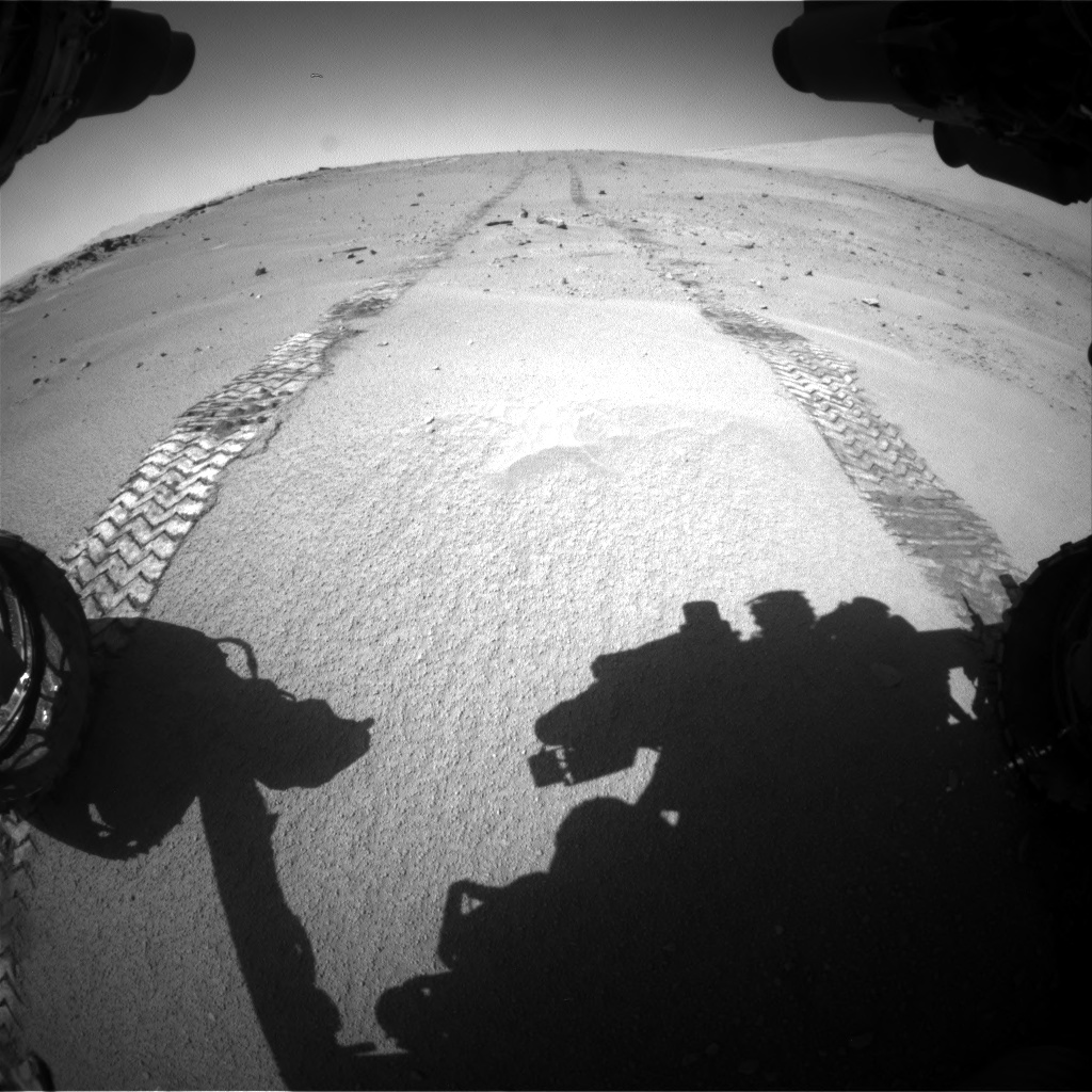 Nasa's Mars rover Curiosity acquired this image using its Front Hazard Avoidance Camera (Front Hazcam) on Sol 547, at drive 294, site number 27