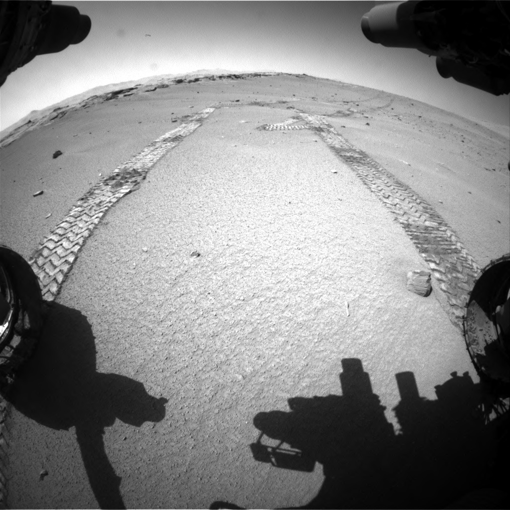 Nasa's Mars rover Curiosity acquired this image using its Front Hazard Avoidance Camera (Front Hazcam) on Sol 547, at drive 342, site number 27