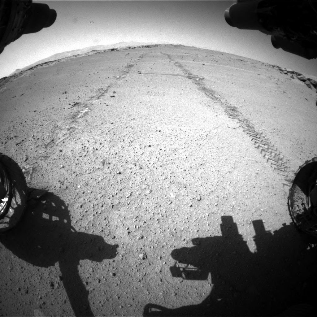 Nasa's Mars rover Curiosity acquired this image using its Front Hazard Avoidance Camera (Front Hazcam) on Sol 547, at drive 396, site number 27