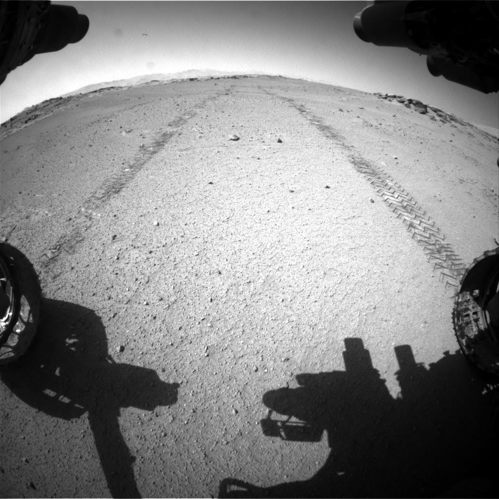 Nasa's Mars rover Curiosity acquired this image using its Front Hazard Avoidance Camera (Front Hazcam) on Sol 547, at drive 420, site number 27