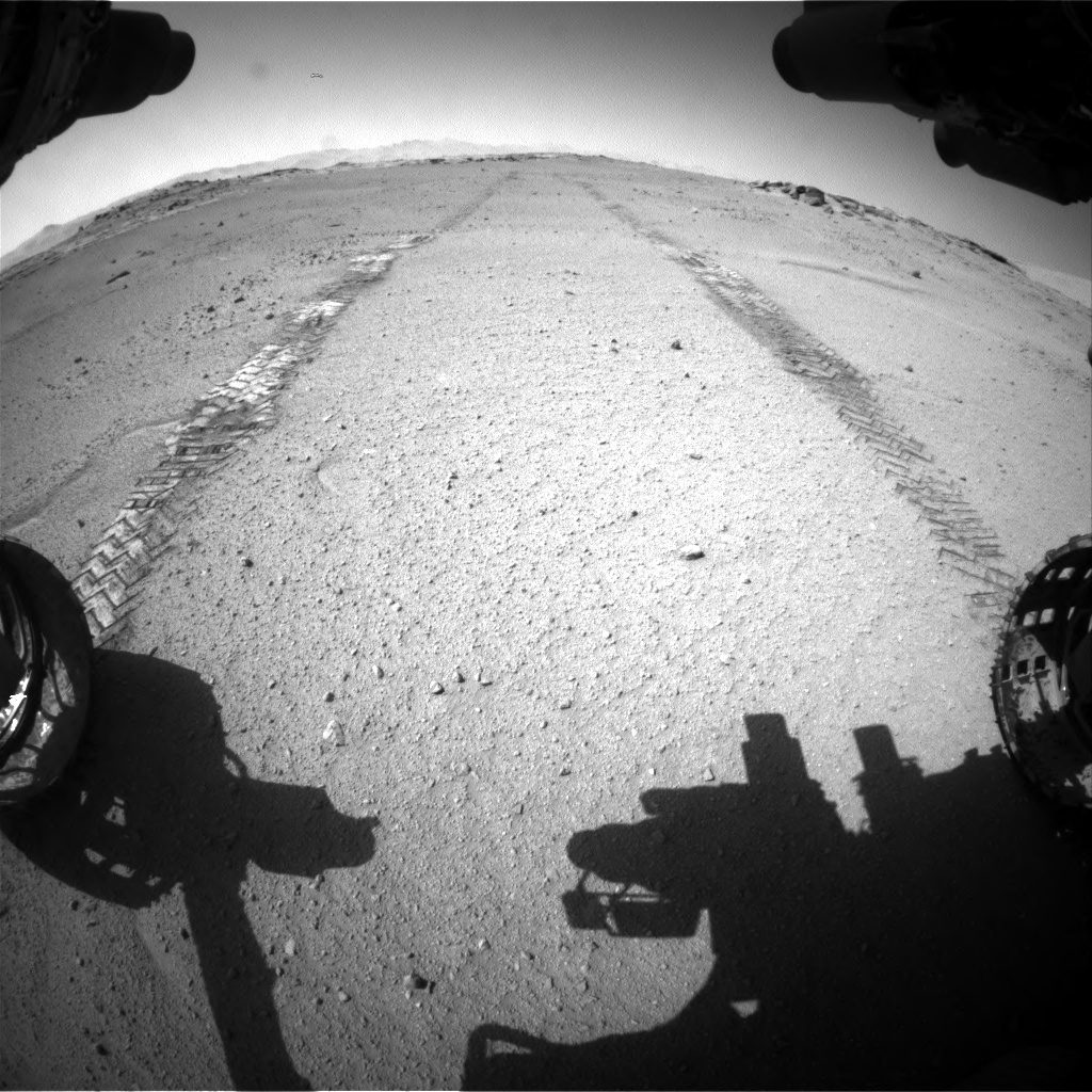 Nasa's Mars rover Curiosity acquired this image using its Front Hazard Avoidance Camera (Front Hazcam) on Sol 547, at drive 444, site number 27