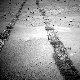Nasa's Mars rover Curiosity acquired this image using its Left Navigation Camera on Sol 547, at drive 312, site number 27