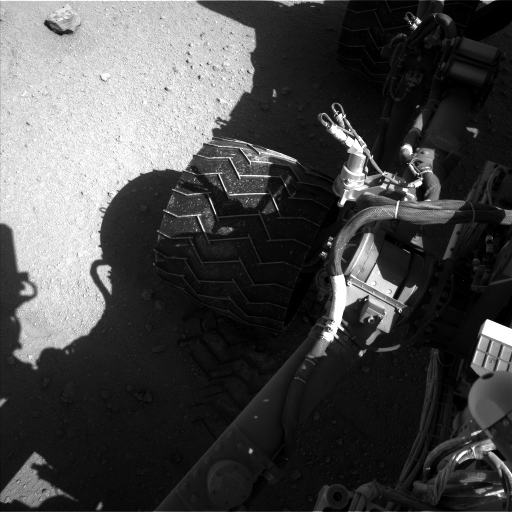Nasa's Mars rover Curiosity acquired this image using its Left Navigation Camera on Sol 547, at drive 396, site number 27