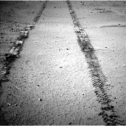 Nasa's Mars rover Curiosity acquired this image using its Left Navigation Camera on Sol 547, at drive 456, site number 27