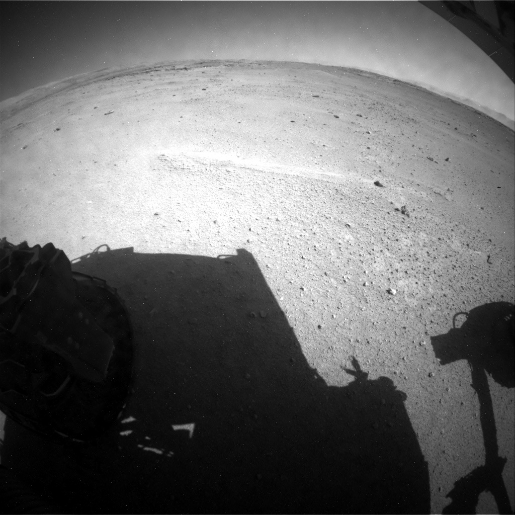 NASA's Mars rover Curiosity acquired this image using its Rear Hazard Avoidance Cameras (Rear Hazcams) on Sol 547