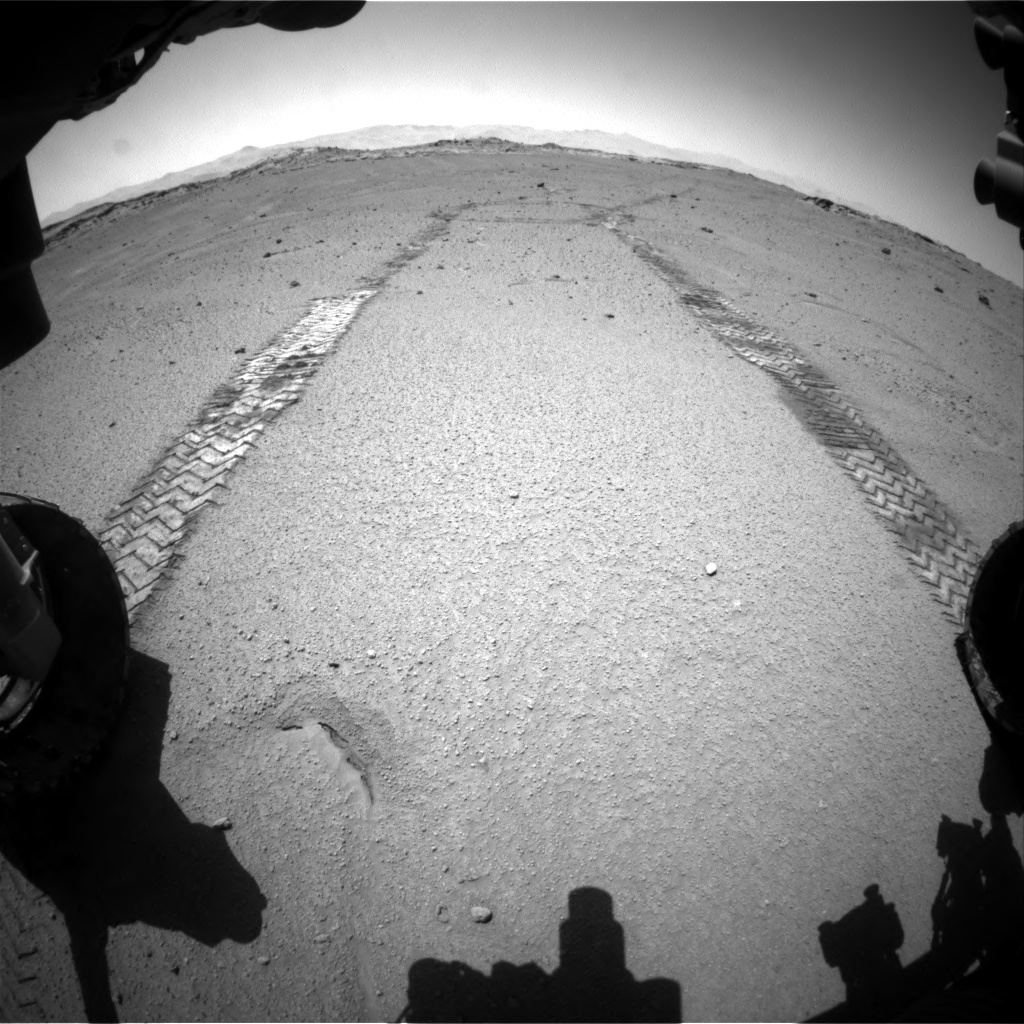 Nasa's Mars rover Curiosity acquired this image using its Front Hazard Avoidance Camera (Front Hazcam) on Sol 548, at drive 580, site number 27