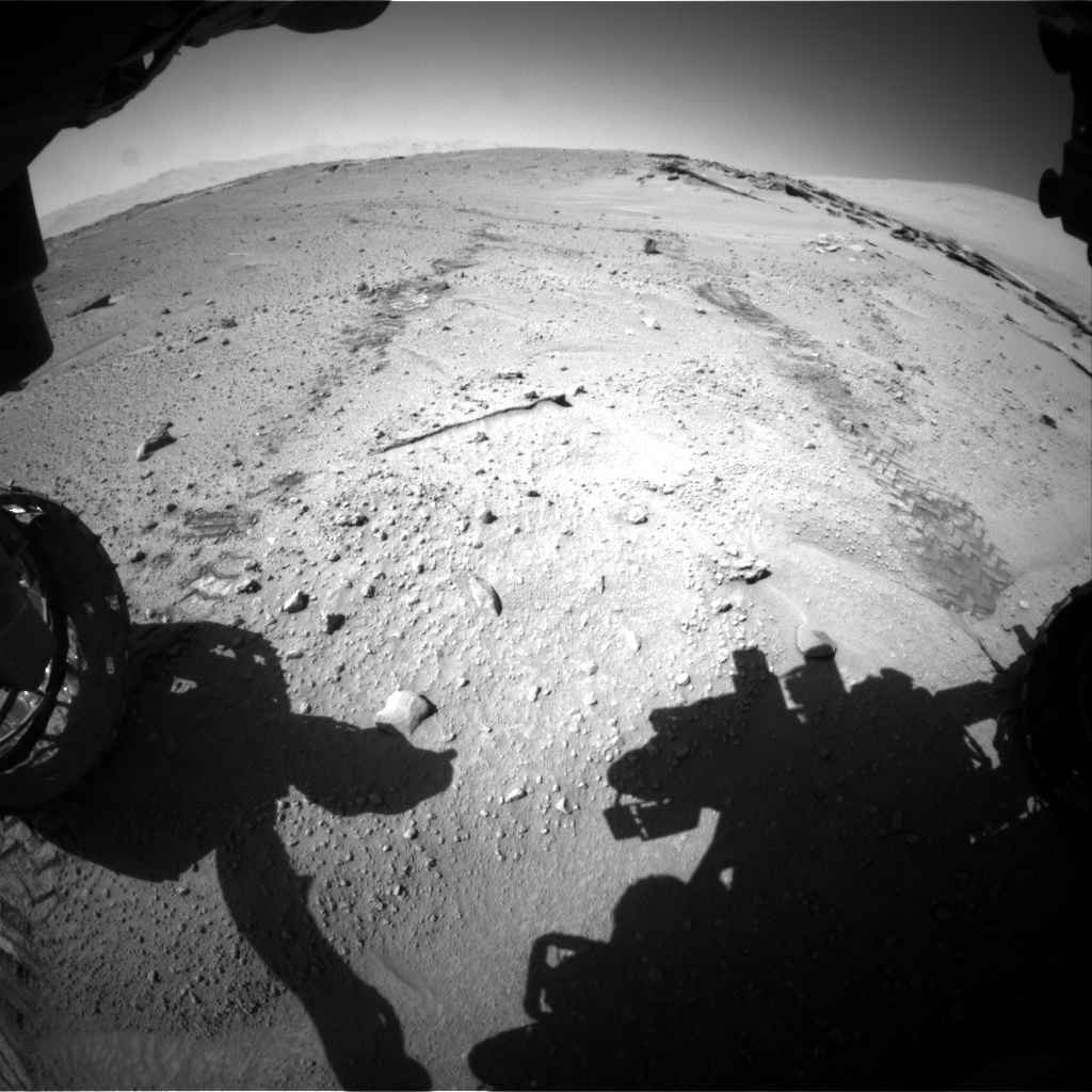 Nasa's Mars rover Curiosity acquired this image using its Front Hazard Avoidance Camera (Front Hazcam) on Sol 548, at drive 778, site number 27