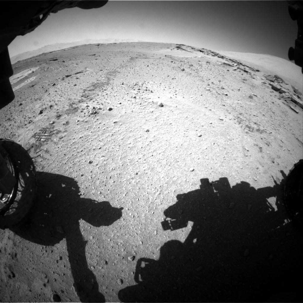 Nasa's Mars rover Curiosity acquired this image using its Front Hazard Avoidance Camera (Front Hazcam) on Sol 548, at drive 802, site number 27