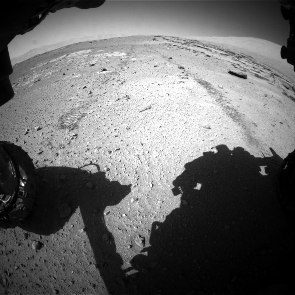 Nasa's Mars rover Curiosity acquired this image using its Front Hazard Avoidance Camera (Front Hazcam) on Sol 548, at drive 856, site number 27