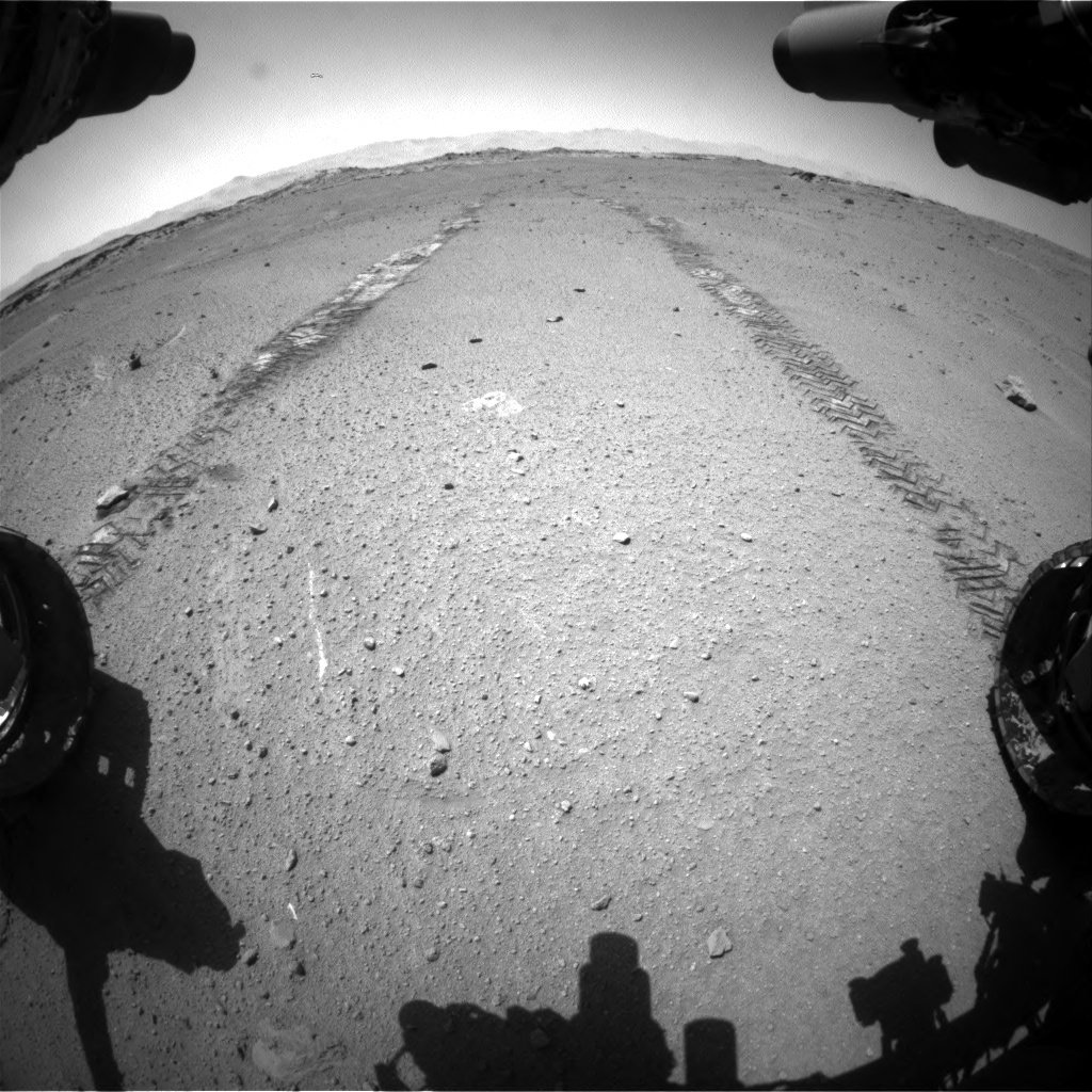 Nasa's Mars rover Curiosity acquired this image using its Front Hazard Avoidance Camera (Front Hazcam) on Sol 548, at drive 634, site number 27