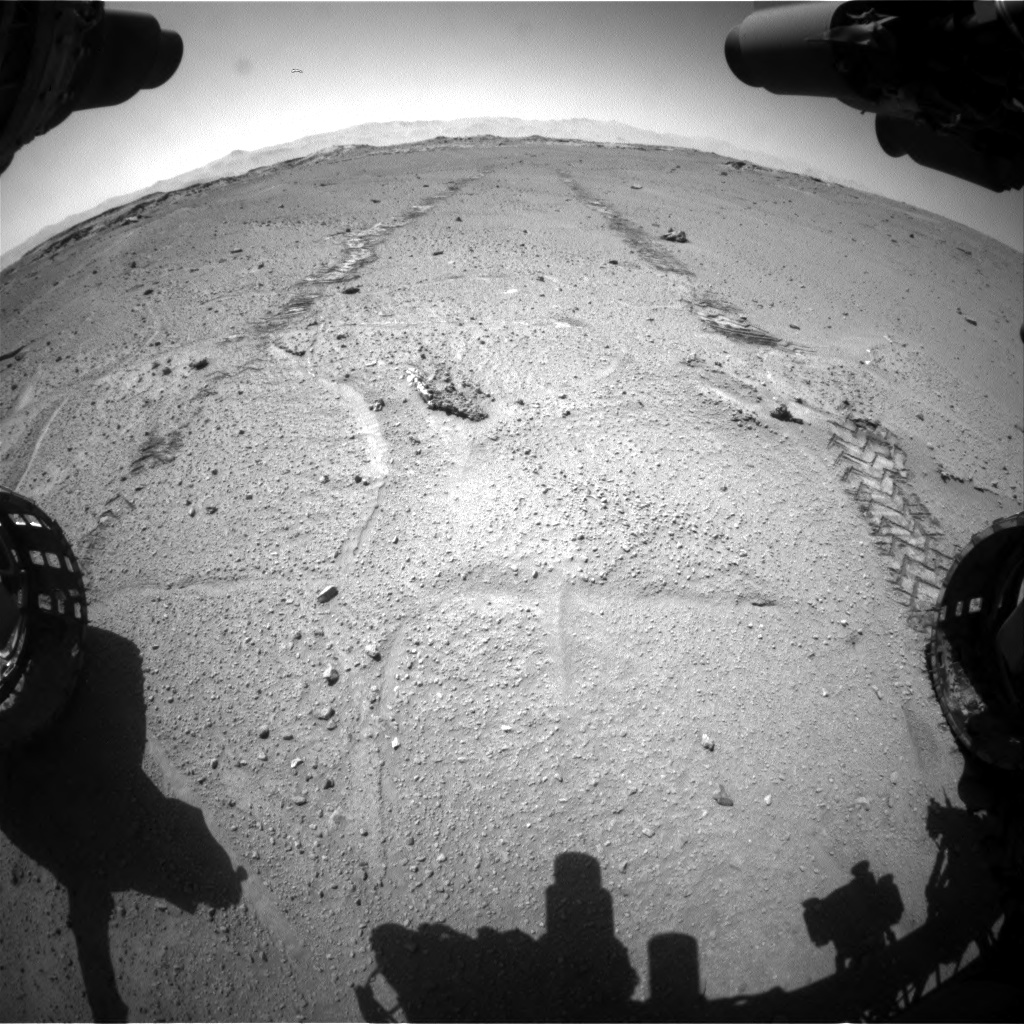 Nasa's Mars rover Curiosity acquired this image using its Front Hazard Avoidance Camera (Front Hazcam) on Sol 548, at drive 688, site number 27